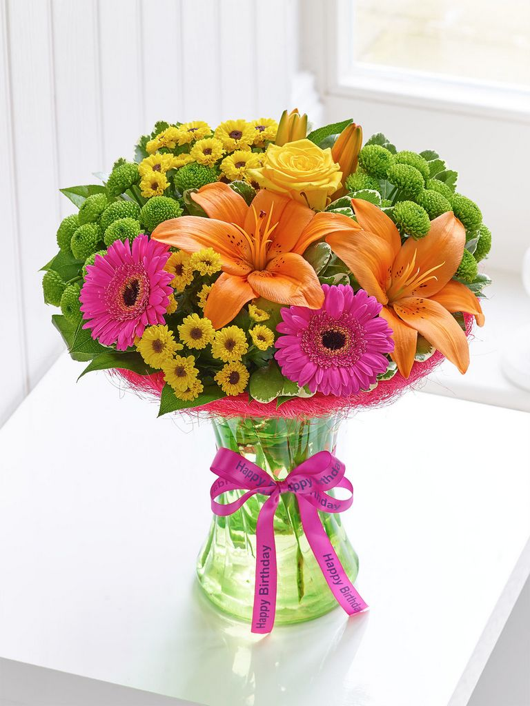 Happy birthday vibrant perfect gift dooleys flowers happy birthday vibrant perfect gift izmirmasajfo