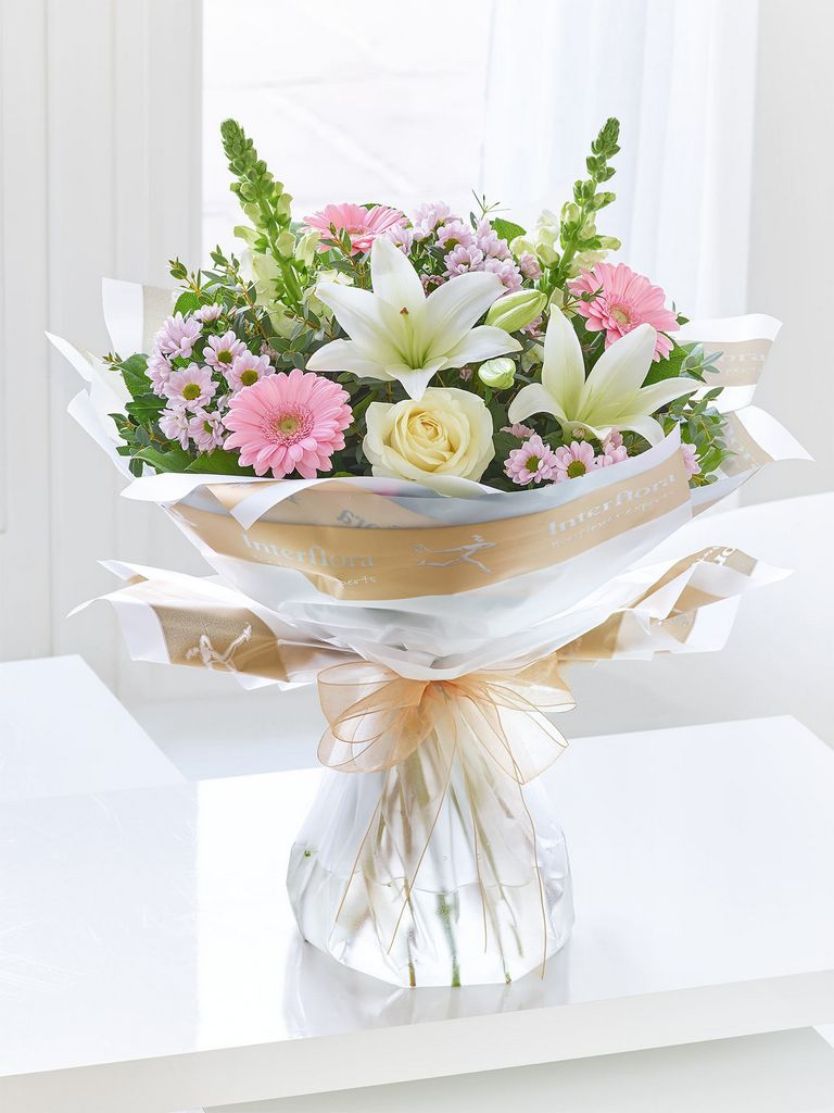 Pure Elegance Hand Tied With Happy Birthday Balloon Dooleys Flowers