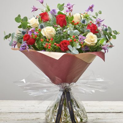 large berry rose handtied